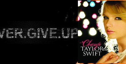 Never Give Up Songs – Taylor Swift – Change