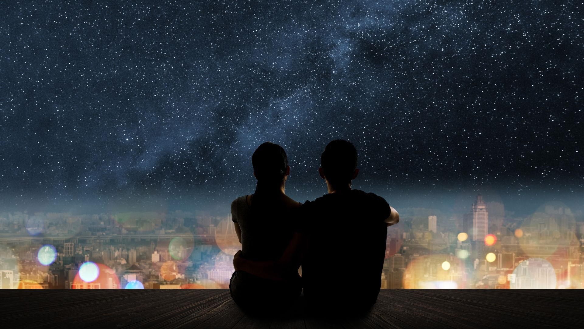 Two People Taking Time Out To Appreciate The View