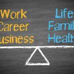 Work Life Balance Chalkboard